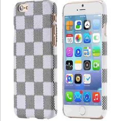 Fashion Leather Gird armor hard case iPhone 6/6s Fashion Leather Gird armor hard case iPhone 6/6s Hot Luxury Grid Leather case for Apple iPhone 6/6s Condition: Brand new Color: White/Gray Accessories