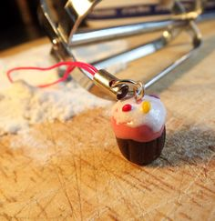 polymer cupcake charm for mobile phone etc clay by KooshyJewellery, £1.70