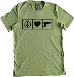 f7badf8e2 Peace Love and Guns Premium Dual Blend T-Shirt. Pro Gun and Libertarian T- Shirts and Apparel by Libertarian Country.
