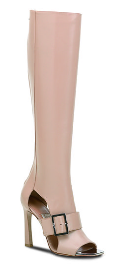 ~Ferragamo SS14 runway collection nude leather open toe boots | The House of Beccaria#