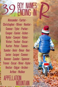 Baby Names Discover Boy Names Ending in R: The 78 Most Popular - Appellation Mountain Love boy names ending in R? Alexander Carter and 37 more popular choices on this list . Pretty Names, Cute Baby Names, Unique Baby Names, Baby Girl Names, Western Baby Names, Country Boy Names, Popular Baby Boy Names, Curriculum, Baby Name List