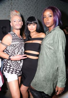 Kylie Jenner Photos - (L-R) Frankie J. Grande, Kylie Jenner and Justine Skye attend Republic Records 2015 VMA after party at Ysabel on August 2015 in West Hollywood, California. - Republic Records Hosts 2015 VMA After Party Kylie Jenner Photos, Kylie Jenner Style, Kendall And Kylie Jenner, Mtv, Frankie J Grande, Justine, Star Wars, Hair Color Purple, Partys