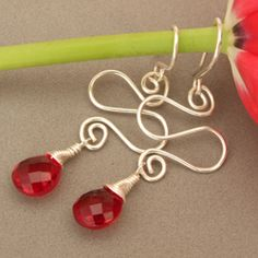 wire briolette earrings