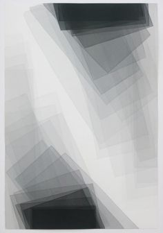 Joachim Bandau.  Untitled (water colour on Arches Tourchon, 152 × 101 cm). 2012.