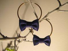 Noeuds cuirs Bleu de Les petits pois sur DaWanda.com