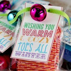 Cute gift idea .. fuzzy funky socks