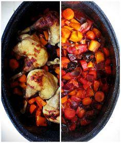 Cocotte roaster poulet légumes d'hiver