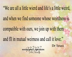 We are all a little...