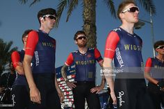 Sir Bradley Wiggins (C) of Team Wiggins at the signing in ahead of the Nakheel Stage Two of the Tour of Dubai on February 4, 2016 in Dubai, United Arab Emirates.