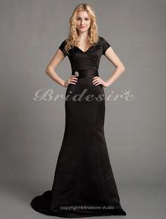 Bridesire - Trumpet/ Mermaid Satin Court Train V-neck Evening Dress inspired by Eva Longoria at Golden Globe Award [165684] - US$119.99 : Bridesire