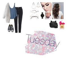 """Tuesday"" by isabellasmall on Polyvore featuring Topshop, RVCA, Converse, Jennifer Meyer Jewelry, I+I, I Love Ugly, MaBelle, Sunday Somewhere, Guerlain and Juicy Couture"