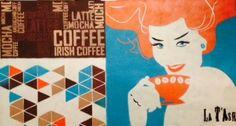 Live painting a wall for cafe Central Park @Kieveen Wonen, Loenen. www.muurschilderingblog.wordpress.com