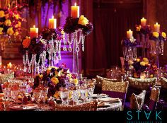 Floral Candle Centerpiece at Plaza NY Wedding by STAK Photographer Duo, via Flickr