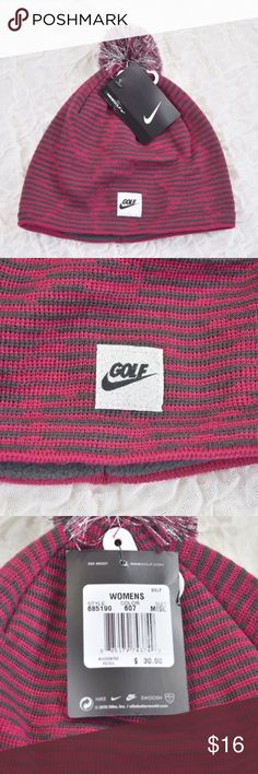 NWT Women's Nike golf hat/beanie Women's knot golf hat/beanie🎀 Nike🎀 100% polyester🎀 Fuchsia or pink color with gray🎀 One size fits most🎀 Fleece lining🎀 Smoke and pet free home Nike Accessories Hats