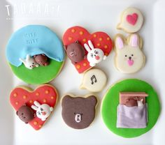 Brown & Cony 3D cookies by TaDaaa!! Kitchen :)