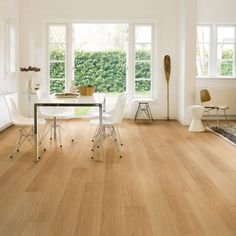 Create a natural look in your home with the warm Quickstep Impressive natural varnished oak laminate flooring. Crafted from the finest material and made with a smooth finish, each wide oak effect plank can be easily installed in your home. Enjoy the flooring for longer with a 25 year warranty, and in the bathroom take advantage of a 10 year water warranty*. Order your Quickstep Impressive natural varnished oak laminate flooring from Flooringsupplies.co.uk today.<br /><br />*To qualify for…