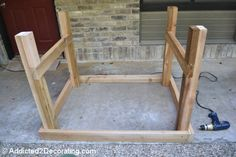 how to build an elevated garden bed table 8