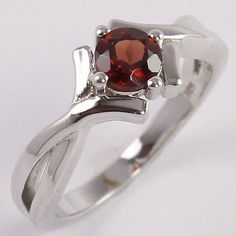 Exporter ! 925 Sterling Silver Amazing Ring Size US 5.75 Natural GARNET Gemstone