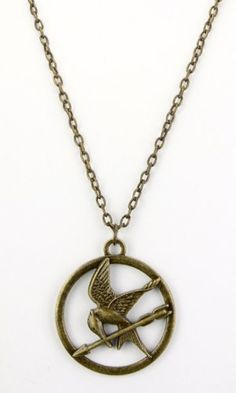 Authentic Mint in Package 2012 Lions Gate Film The Hunger Games Mockinjay Single Chain Necklace