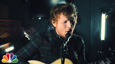 "Ed Sheeran performs an acoustic version of Fetty Wap's ""Trap Queen"" with The Roots while backstage in the Tonight Show music room."