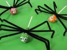 Spider Lollipops