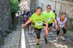 Passage commun aux quatre #trails du matin, la montée vers la Cité annonçait la fin du parcours. (Photo: Patrice Campion/Ville d'Angers)