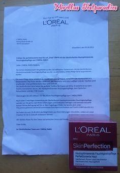 Dank gofeminin konnte ich die SkinPerfection Hautoptimierende Feuchtigkeitspflege von L'ORÉAL PARIS testen.