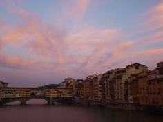 Ponte Vecchio, Water side housing, Florence, Italy
