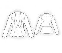 Lekala Sewing Patterns - WOMEN Jackets/Blazers Sewing Patterns, mint cotton sateen