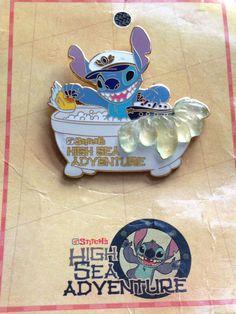 Disney Cruise Line DCL Stitch's High Sea Adventure Stitch In A Tub Pin  LE 750