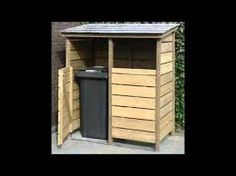 Image result for vuilcontainers opbergen Firewood Storage, Storage Bins, Tall Cabinet Storage, Storage Ideas, Backyard Landscaping, Shed, Outdoor Structures, Patio, Outdoor Decor