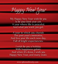 Perfect Happy New Year Poems