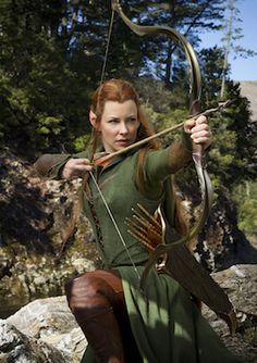 15 Men On A Mountain…and Evangeline Lilly in '#TheHobbit: The Desolation of Smaug' | #feminism #film #women