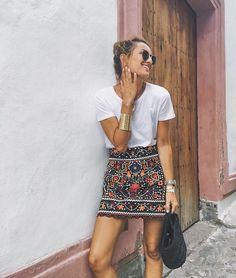 @roressclothes clothing ideas #women fashion white top, skirt