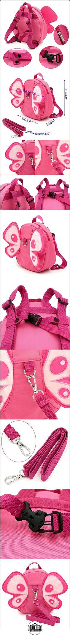 BTSKY bebé mariposa con alas caminar arnés de seguridad Riendas Mochila Infantil Niño Kid correa bolsa rosa  ✿ Seguridad para tu bebé - (Protege a tus hijos) ✿ ▬► Ver oferta: http://comprar.io/goto/B01H6LLA6S
