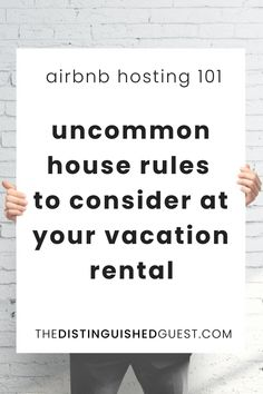 House rules are a delicate balancing act. Too many rules, and good guests will be turned off. Too few, and you might end up in a sticky situation with problematic guests who claim they didn't know any better. Here are some rules that you may not have considered yet. #airbnb #airbnbhost #vacationrental #vacationrentalhost #shorttermrental Investment Property, Rental Property, Creating A Business Plan, Airbnb Host, Hotel Supplies, House Rules, First Time Home Buyers, Buyers Guide, Real Estate Investing