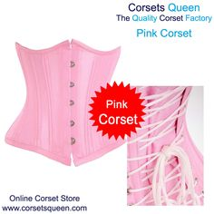 088acfca65 Waist Training Underbust Pink Taffeta Corset Black Corset Dress