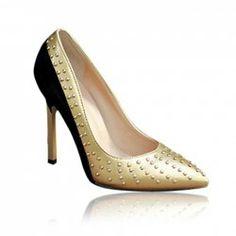 $22.36 Trendy Women's Pumps With Splice and Rivets Design Women's Pumps, Pump Shoes, Heels, Sammy Dress, Online Sales, Shoes Online, Shopping, Design, Fashion