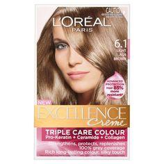 l'oreal light ash brown | Oreal Excellence Creme - 6.1 Light Ash Brown