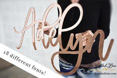 Beautiful Laser Cut Wall Signs For Nurseries, Weddings, and Events – The Gilded Line Different Font Styles, Rose Gold Mirror, Custom Mirrors, Gold Diy, Wood Mirror, Custom Fonts, Name Signs, Baby Names