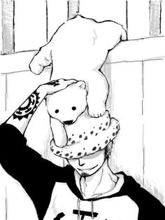 Bepo and Trafalgar Law -one piece One Piece Fanart, One Piece Anime, One Piece Fairy Tail, One Piece Pictures, Trafalgar Law, All Things Cute, Noragami, Awesome Anime, Anime Comics