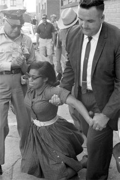 Civil Rights activist, Patricia Stevens Due, being arrested by Tallahassee police may 30, 1963.