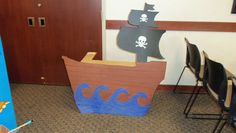 pirate ship out of cardboard box..picture taking