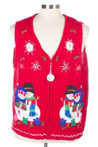 Red Ugly Christmas Vest 26450