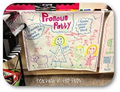 Pronoun Anchor Chart---seeing that this with my artistic abilities would be great for even my fifth graders  :)