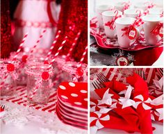 Christmas red table
