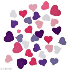 Compra nuestros productos a precios mini Pegatina de fieltro - Corazón fashion x 20 gr - Entrega rápida, gratuita a partir de 89 € !