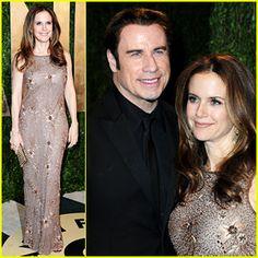 John Travolta and Kelly Preston Oscars 2013 Oscars 2013, Kelly Preston, John Travolta, Red Carpet, Fashion, Moda, Fashion Styles, Fashion Illustrations
