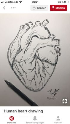 drawing easy step by step ; drawing easy for kids ; Pencil Art Drawings, Cute Drawings, Drawing Sketches, Drawing Drawing, Drawing Tips, Drawings Of Hearts, Heart Pencil Drawing, Simple Art Drawings, Drawing Ideas