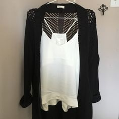 Spotted while shopping on Poshmark: Silence + Noise Crochet Back Cardigan! #poshmark #fashion #shopping #style #Urban Outfitters #Sweaters